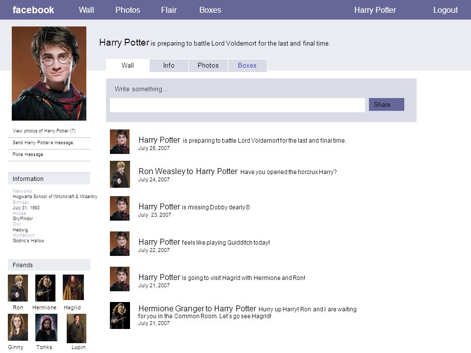 facebook Harry Potter is preparing to battle Lord Voldemort for the last and final time.