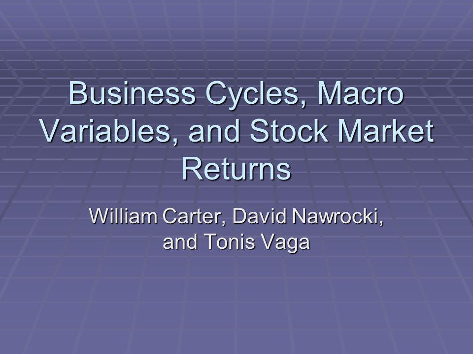 Business Cycles, Macro Variables, and Stock Market Returns William Carter, David Nawrocki, and Tonis Vaga