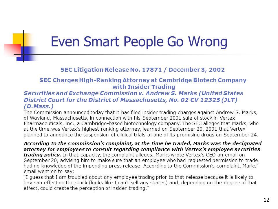 12 SEC Litigation Release No.