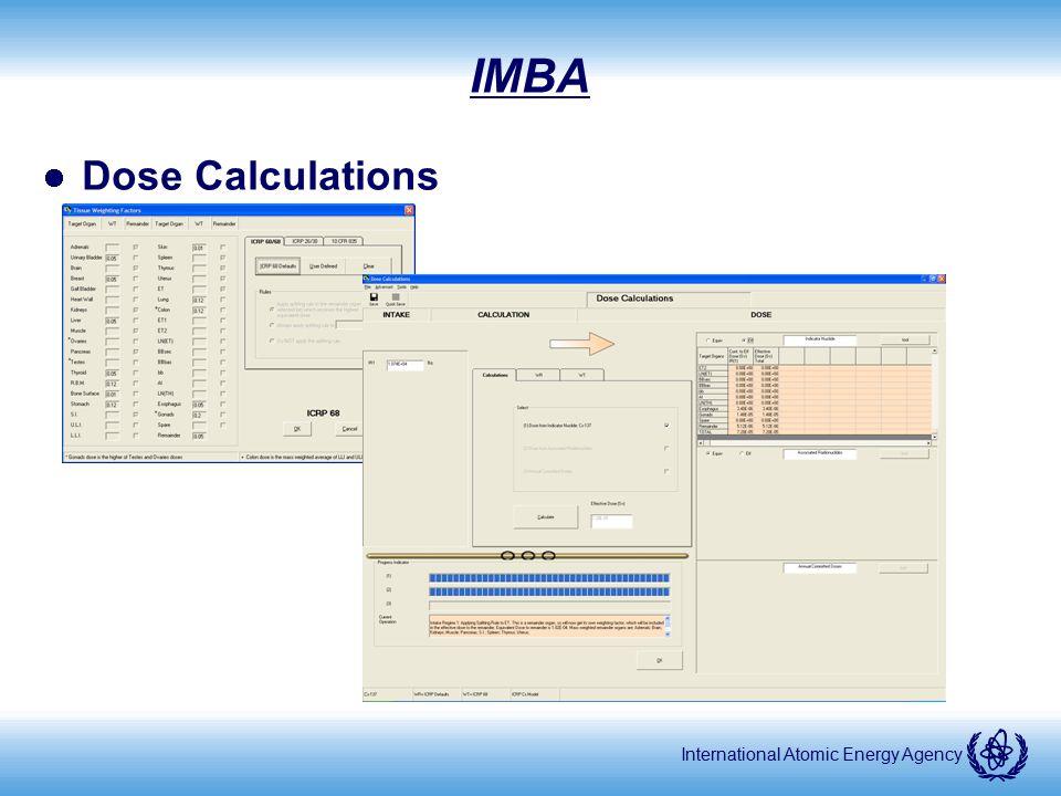International Atomic Energy Agency IMBA Dose Calculations