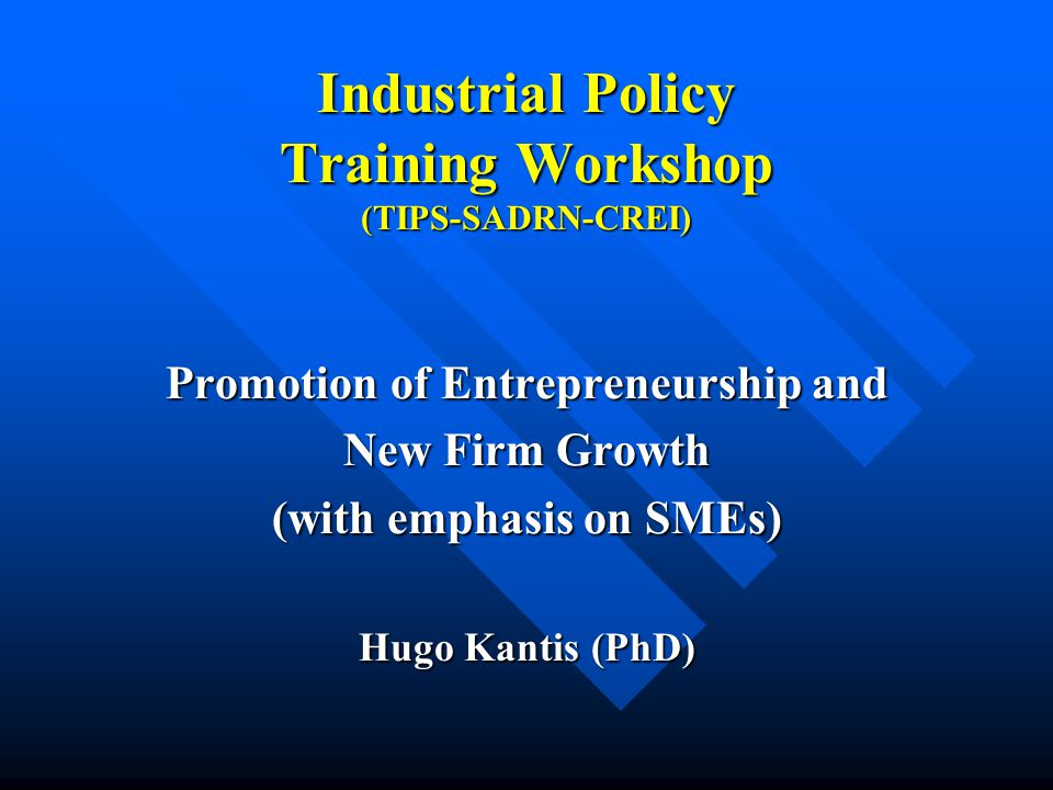 E) Examples and lessons: key factors in the design and key factors in the design and implementation of policies implementation of policies
