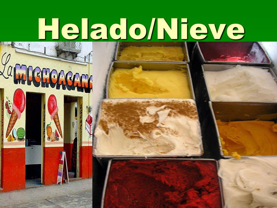 Helado/Nieve
