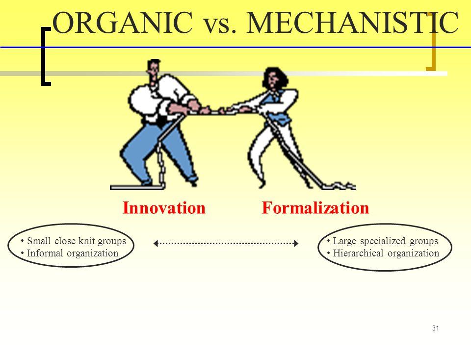 31 ORGANIC vs.