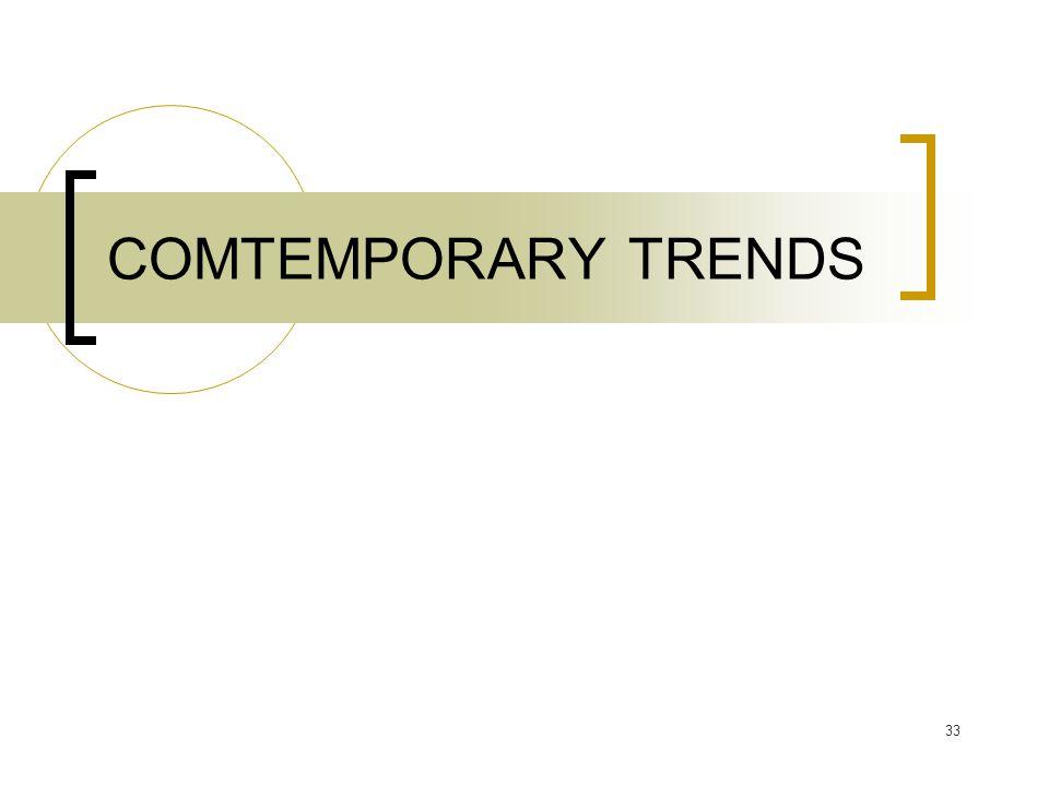 COMTEMPORARY TRENDS 33
