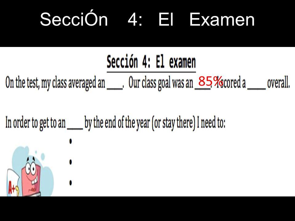 SecciÓn 4: El Examen 85%