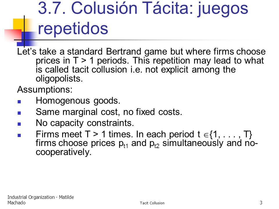 Industrial Organization - Matilde Machado Tacit Collusion 3 3.7.
