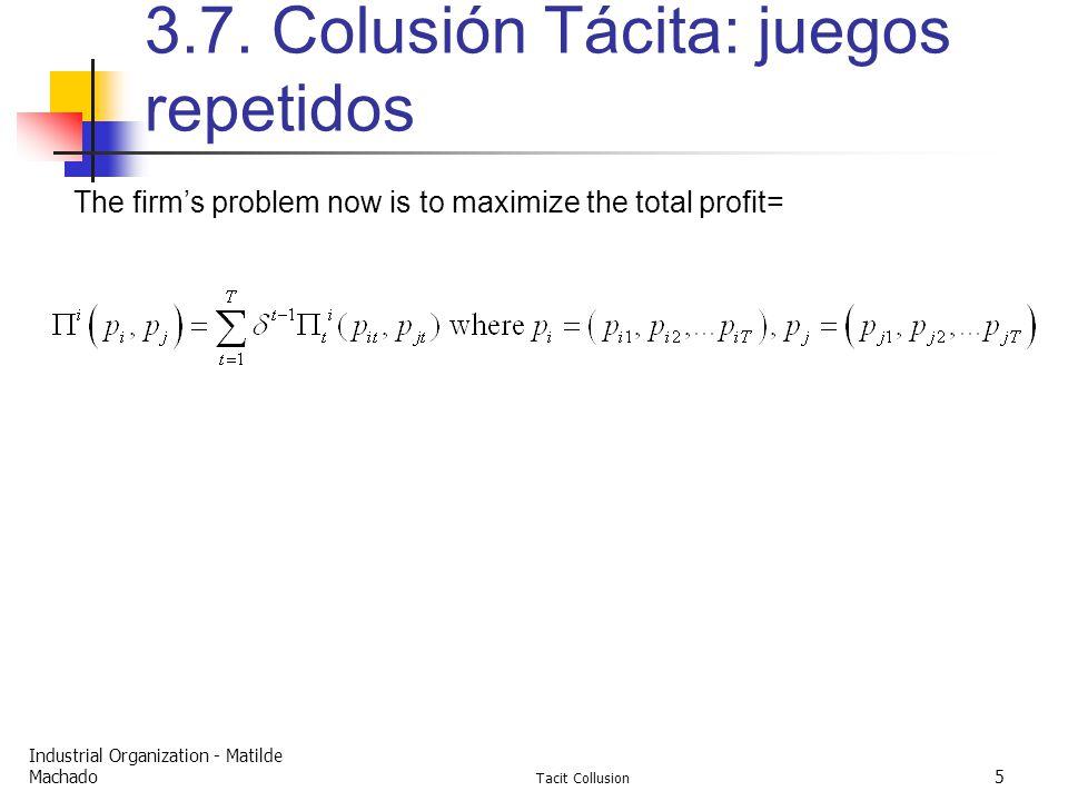 Industrial Organization - Matilde Machado Tacit Collusion 5 3.7.