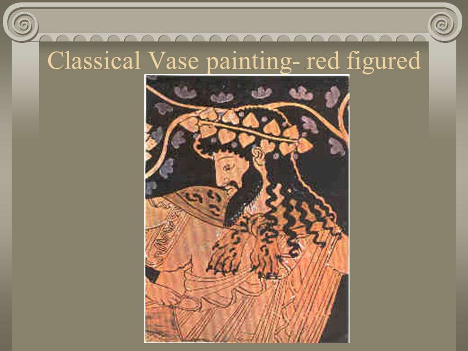 Classical Vase painting- red figured vases