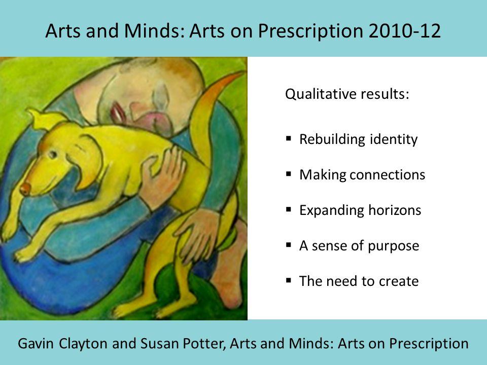 Arts and Minds: Arts on Prescription 2010-12 Gavin Clayton and Susan Potter, Arts and Minds: Arts on Prescription Qualitative results:  Rebuilding id