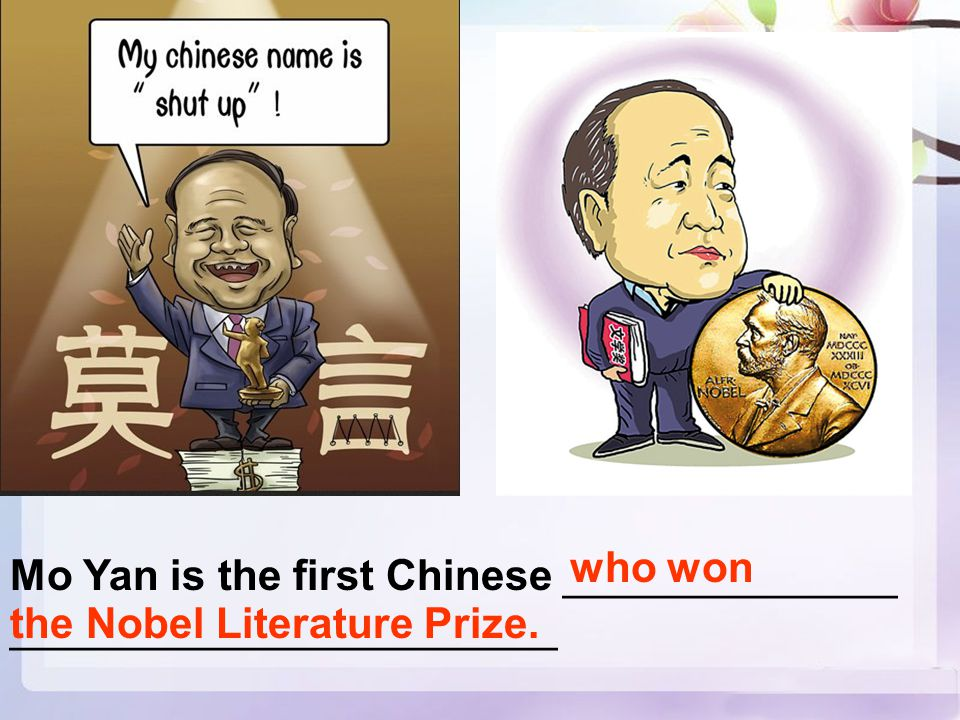 Mo Yan is the first Chinese ______________ _______________________ who won the Nobel Literature Prize.
