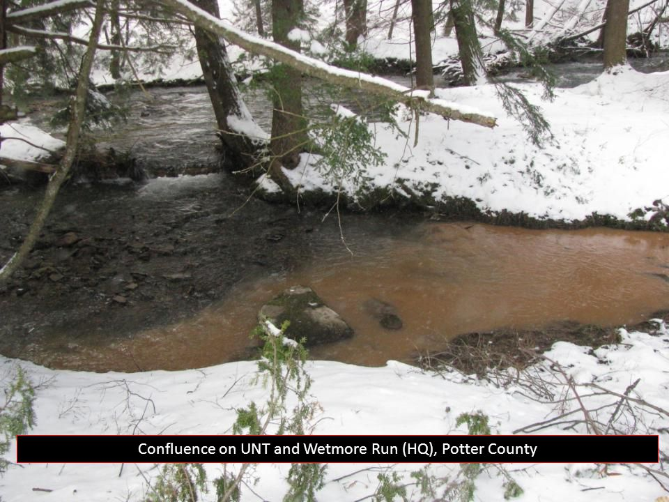 Confluence on UNT and Wetmore Run (HQ), Potter County