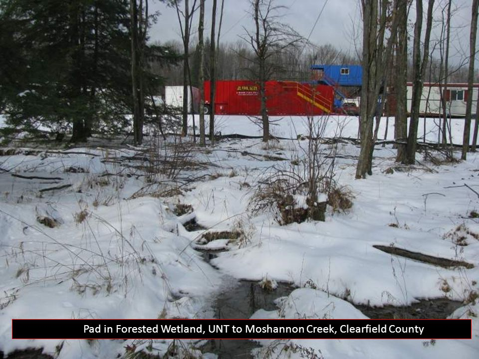 Well Pad in Forested Wetland, UNT to Moshannon Creek, Clearfield County