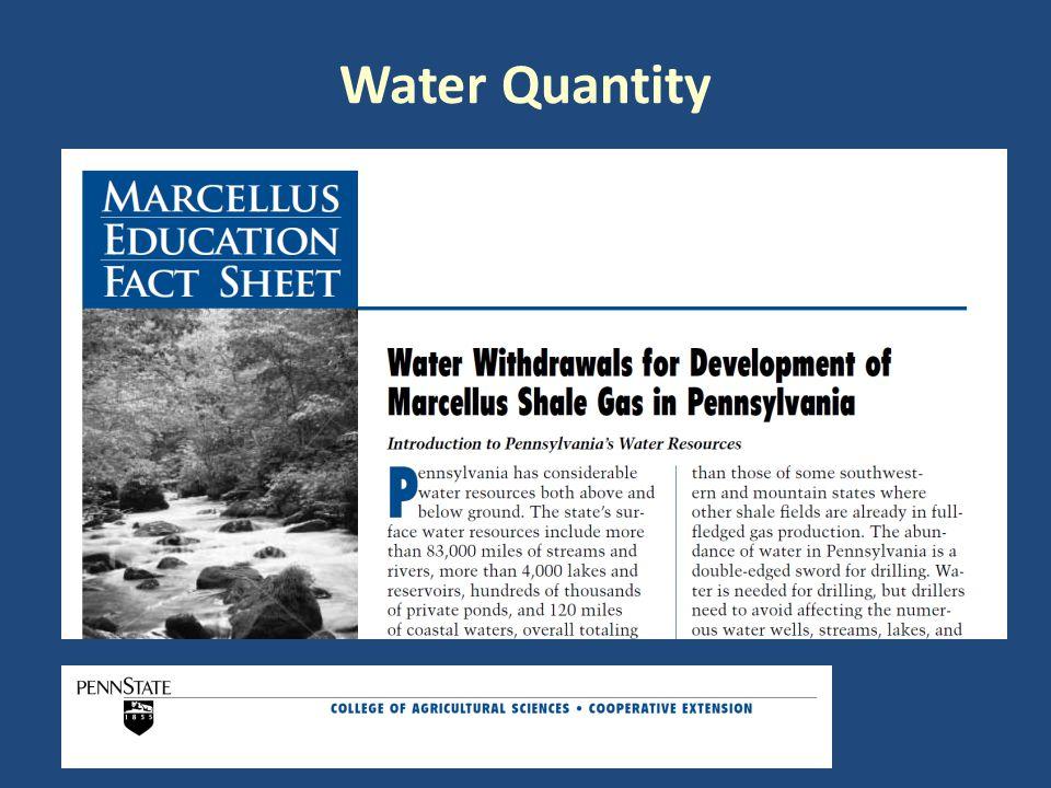 Water Quantity