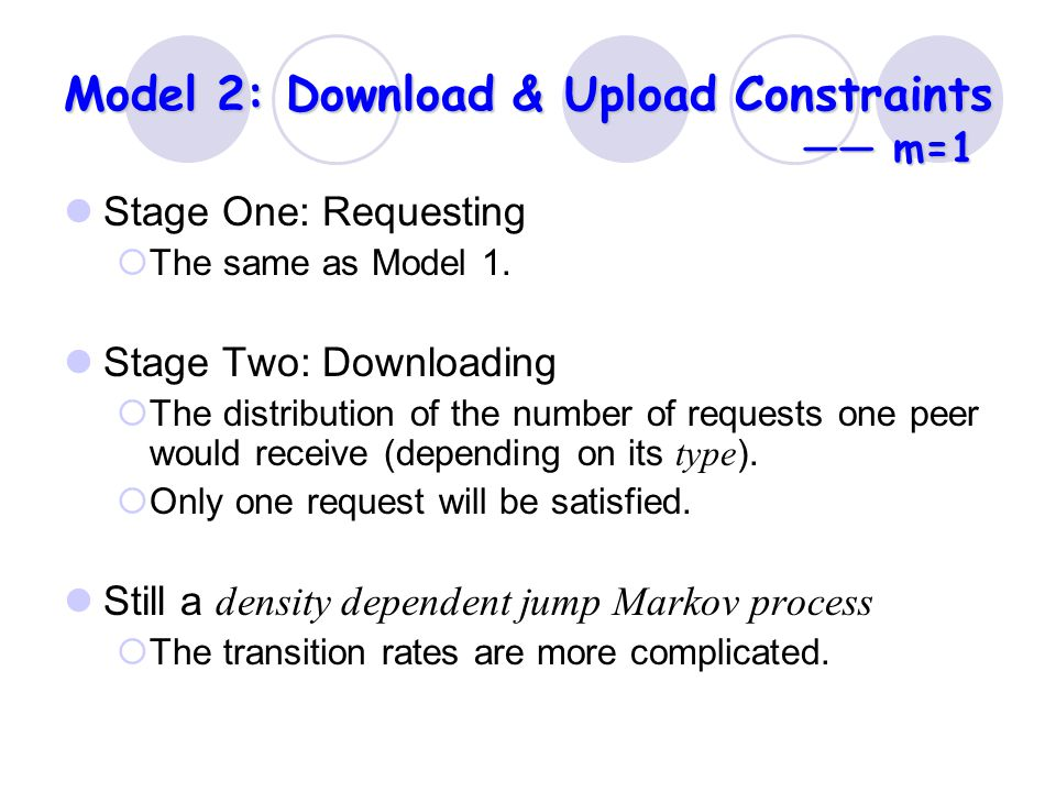 Model 2: Download & Upload Constraints —— m=1 Stage One: Requesting  The same as Model 1.