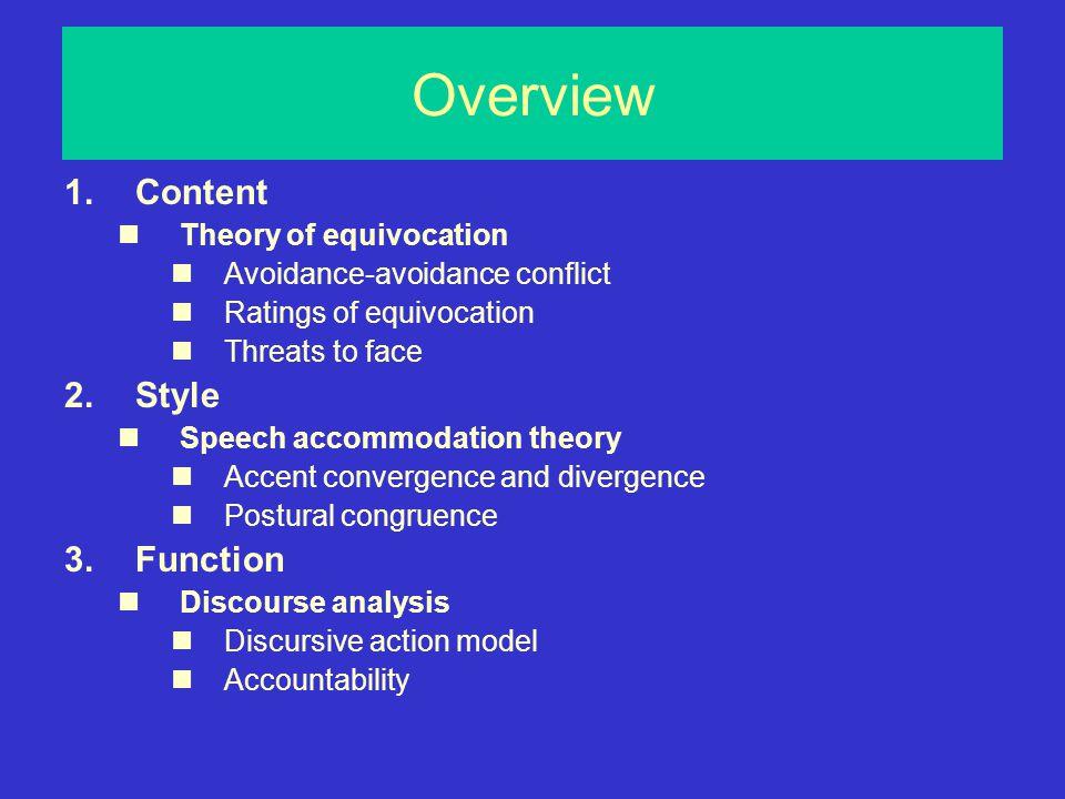 Communication Accommodation Theory (Giles et al.