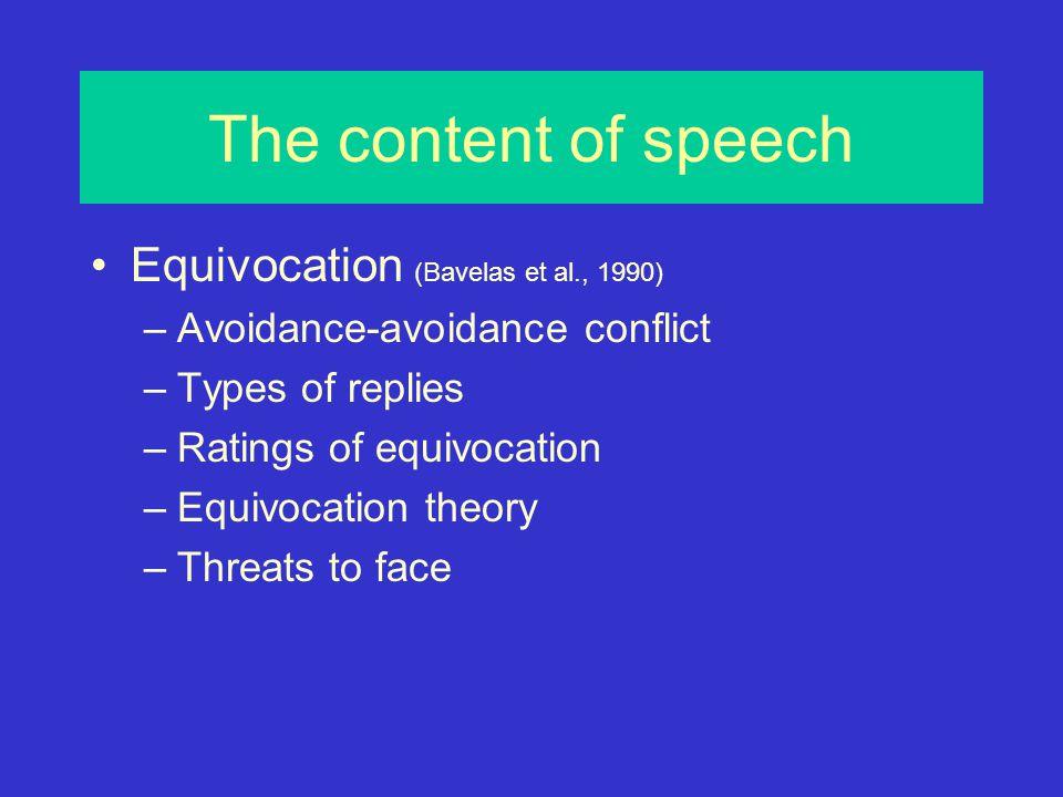 Threats to face (Bull et al.