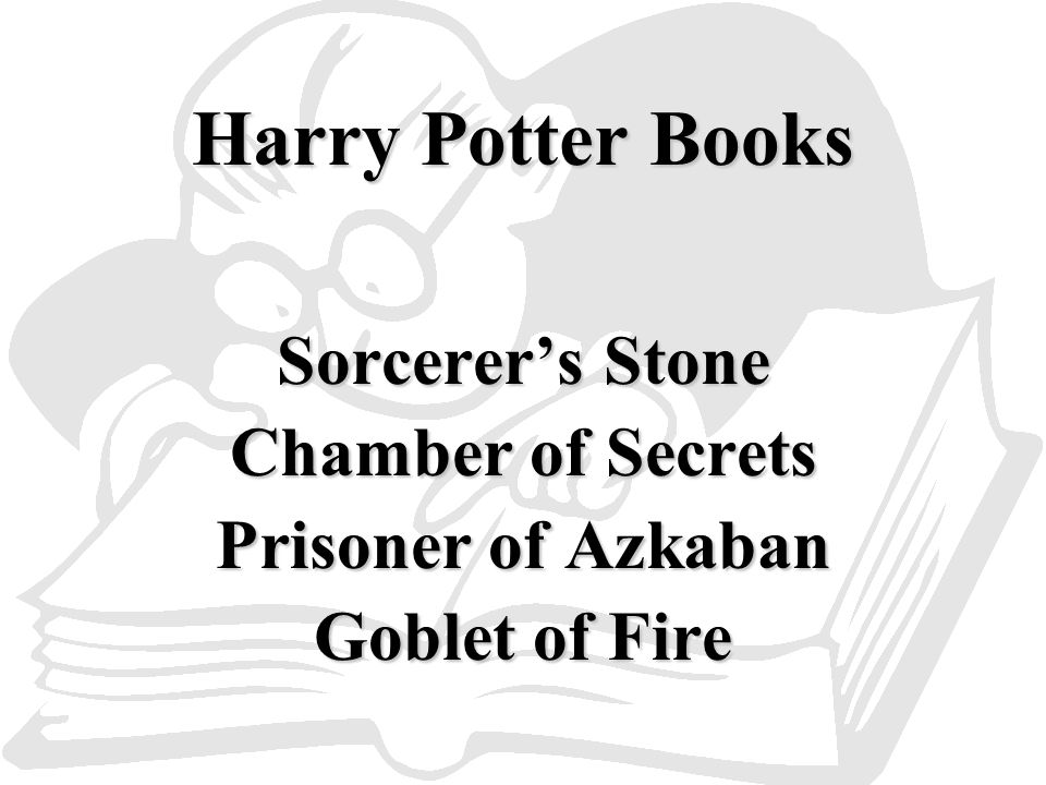 Harry Potter Books Sorcerer's Stone Chamber of Secrets Prisoner of Azkaban Goblet of Fire