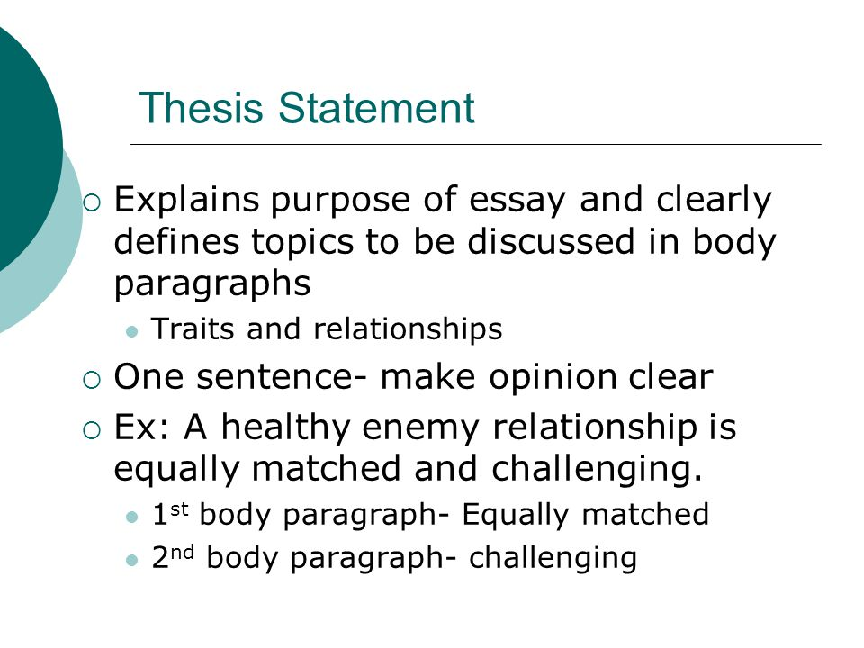 strong thesis statement definition