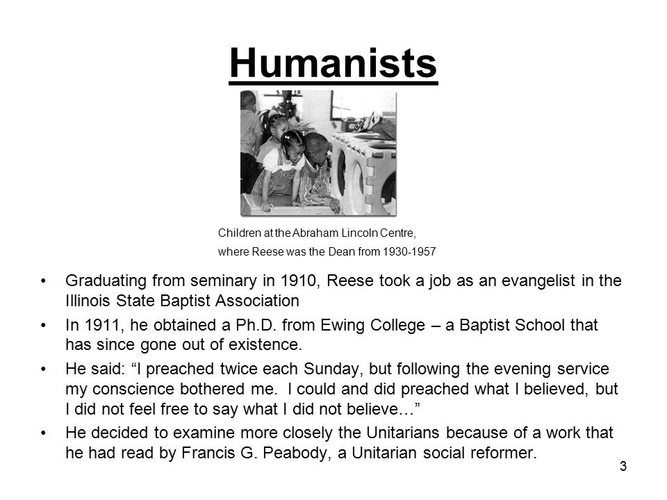4 Reese wrote the minister of the Unitarian Church in Toledo, Ohio, and set up a meeting with him.