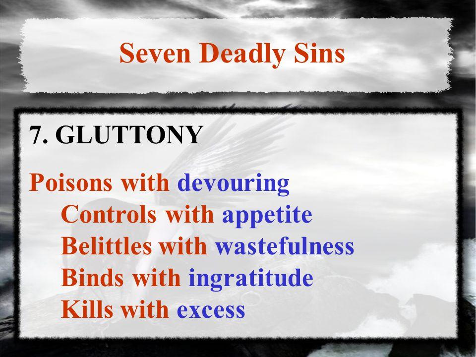 Seven Deadly Sins 7.