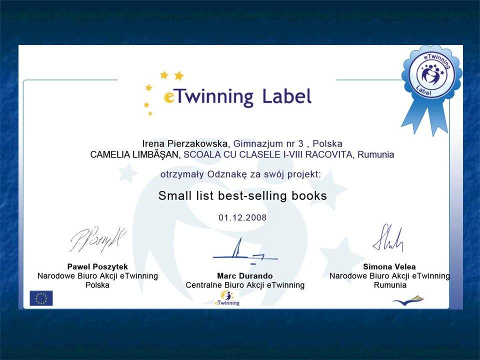 We got an e-Twinning certificate.