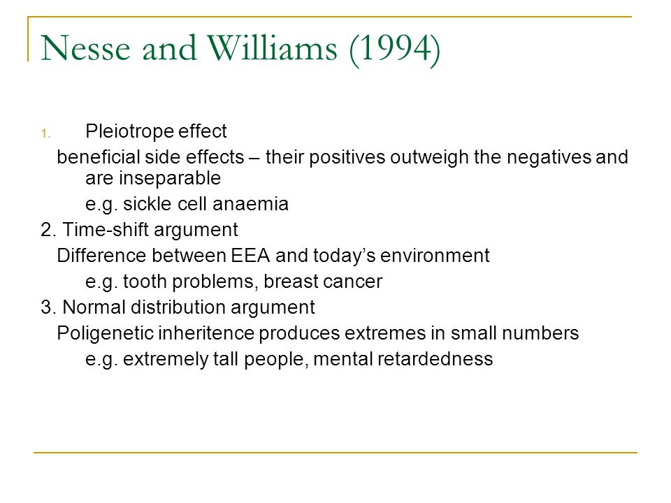 Nesse and Williams (1994) 1.