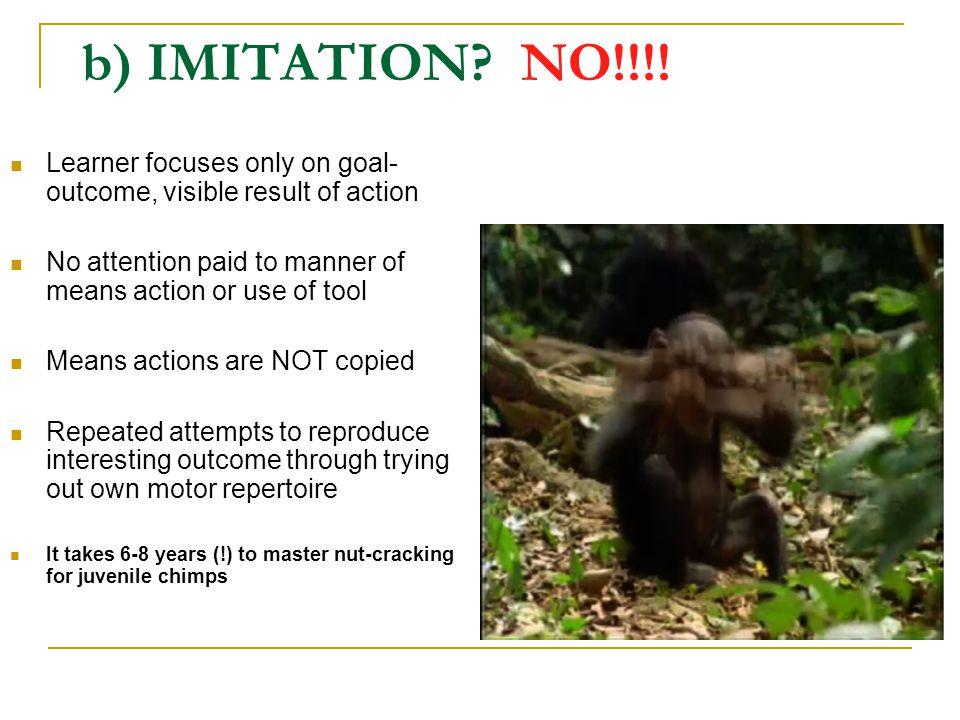 b) IMITATION. NO!!!.