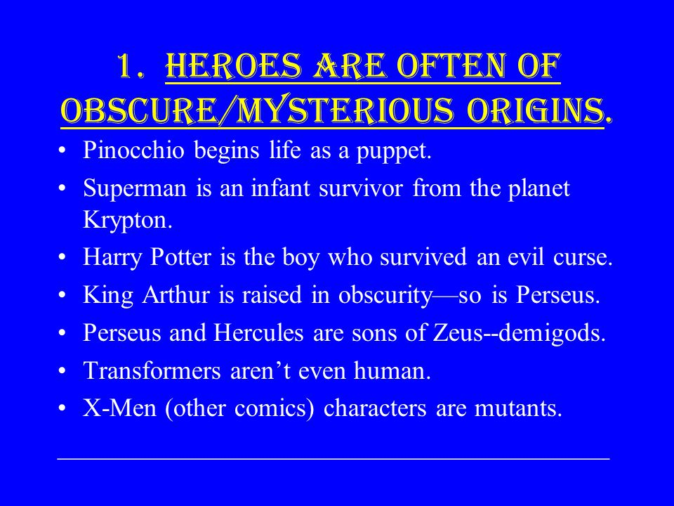 ARCHETYPES OF THE HERO Here are some examples of the 12 archetypes presented to you. This will help you understand the character of Beowulf.