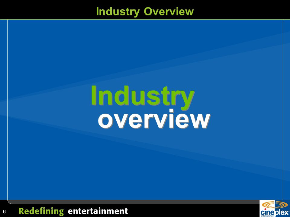 6 Industry Industry Overview overview