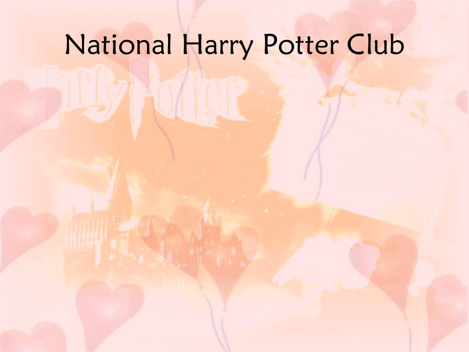 National Harry Potter Club