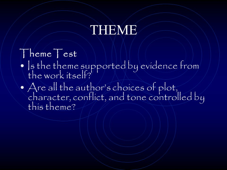 THEME 3. Identify the insight or truth that was learned about the subject.