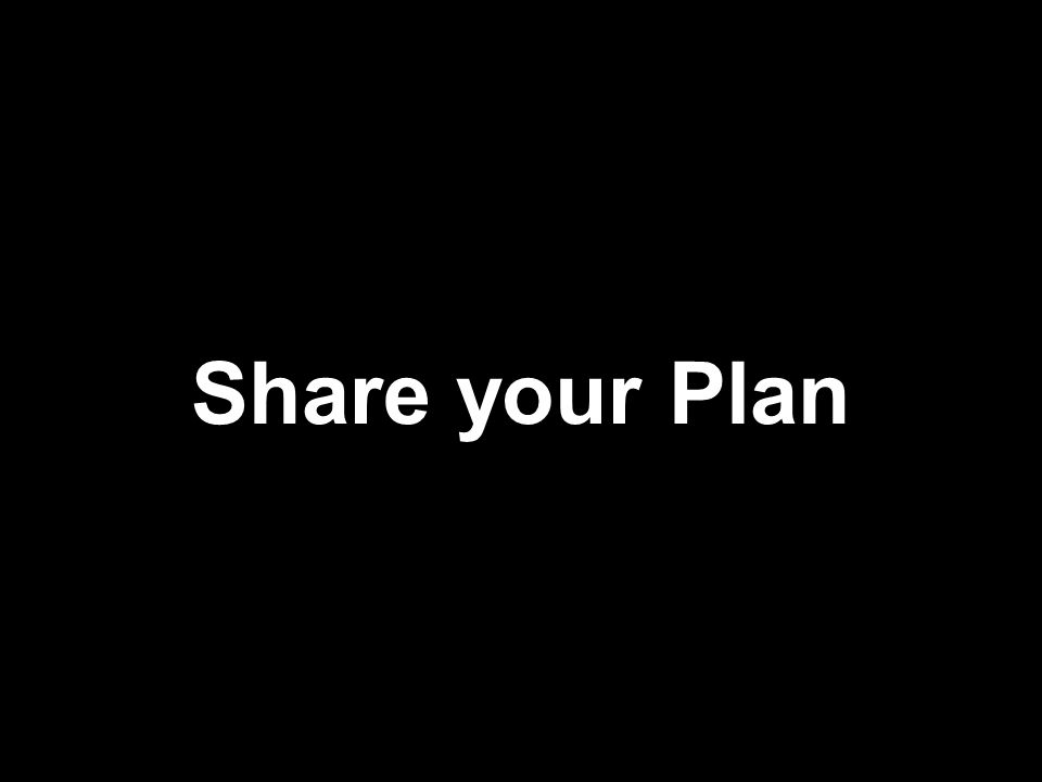 Share your Plan