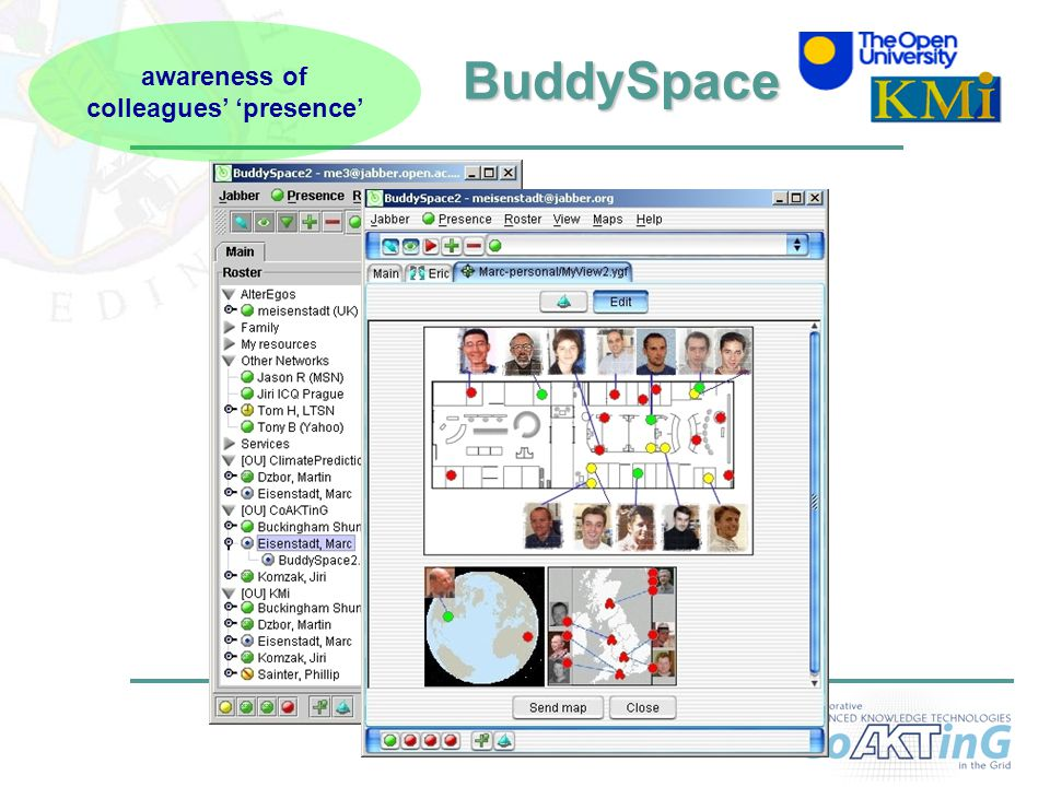 11 BuddySpace BuddySpace awareness of colleagues' 'presence'