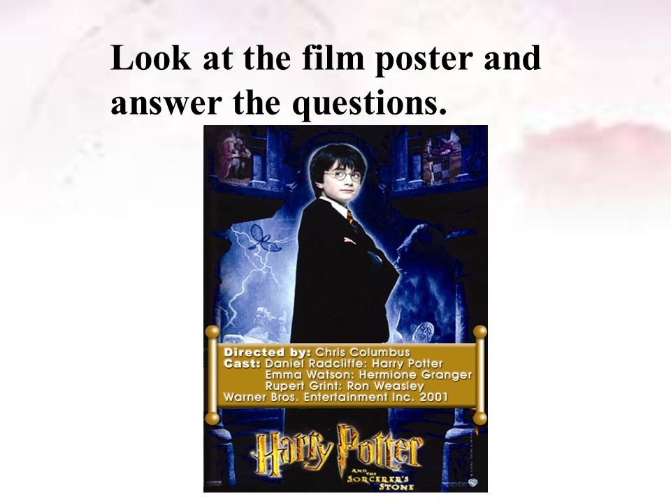 Look at the film poster and answer the questions.