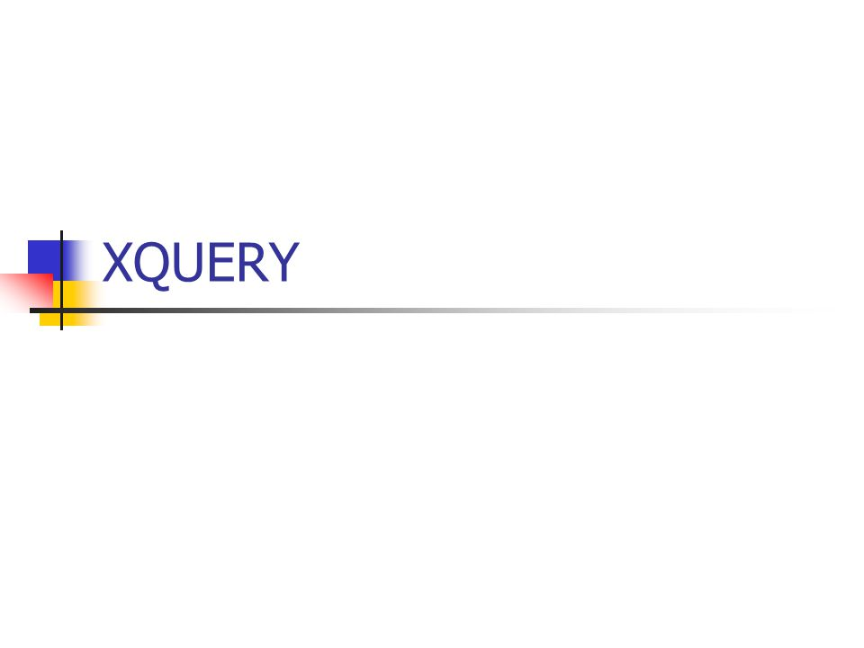 What is XQuery.