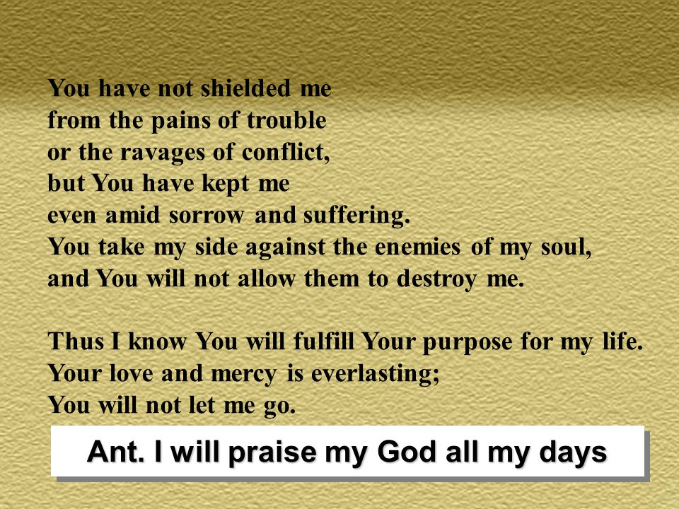 Antiphon: You have redeemed us,Lord God, in your blood, from every tribe and tongue and people and nation.