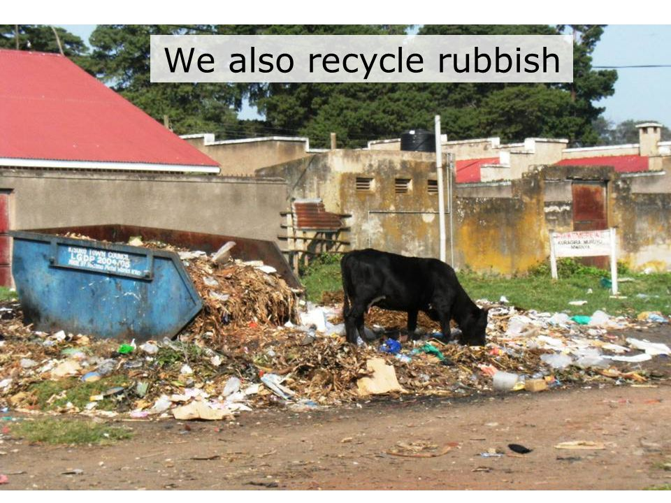 We also recycle rubbish