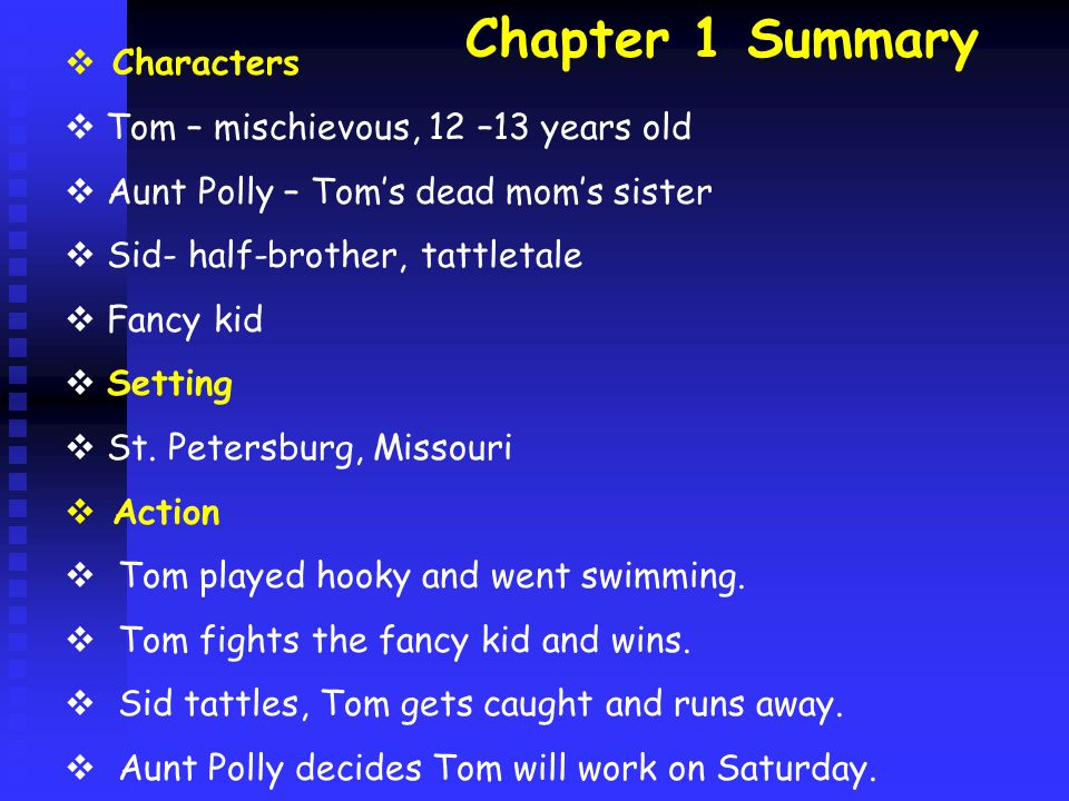 Chapter 22 summary  Characters: Tom, Joe, Huck, townspeople  Setting: St.