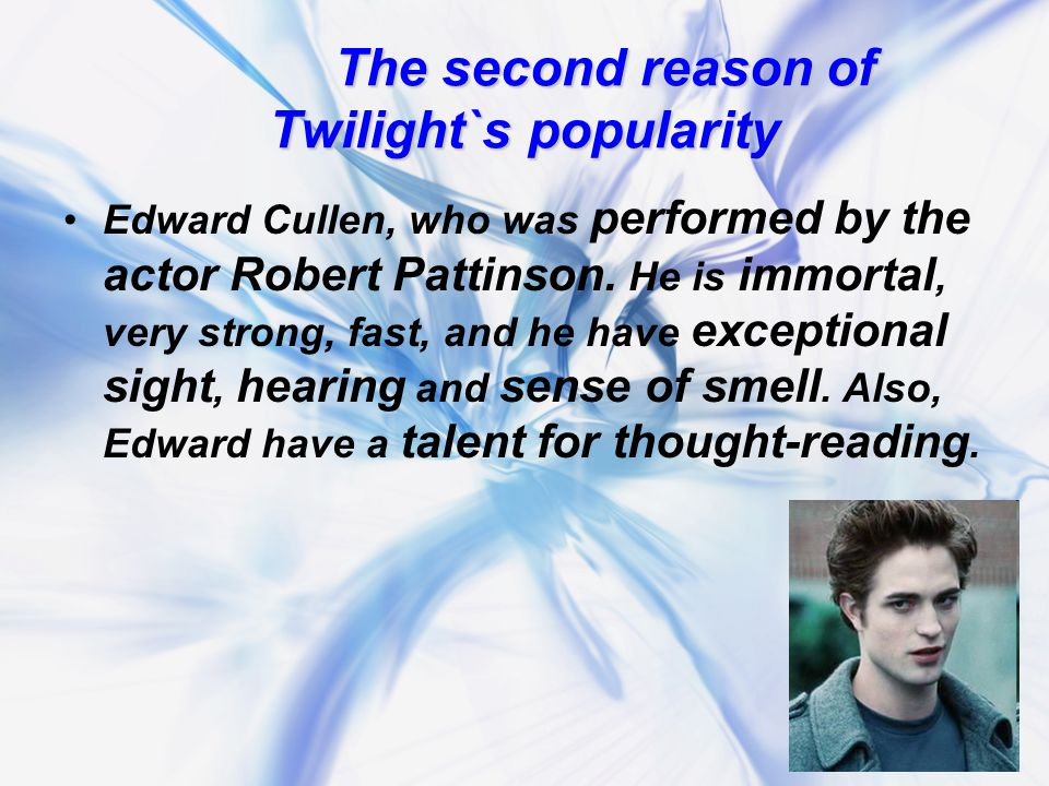 Opinion ofWikiAnswers : Opinion of WikiAnswers : Twilight Books have become popular because they are: great books, Stephenie Meyer is a wonderful author, the fact that the emerging conflict of their love grows and grows until the last part of the last book.