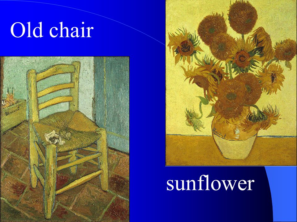 Old chair sunflower