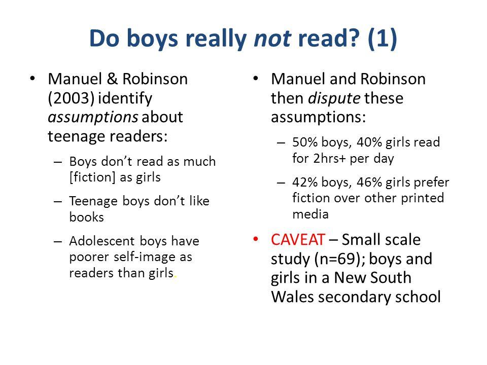 Do boys really not read.