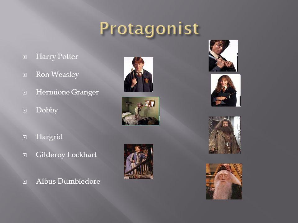  Harry Potter  Ron Weasley  Hermione Granger  Dobby  Hargrid  Gilderoy Lockhart  Albus Dumbledore