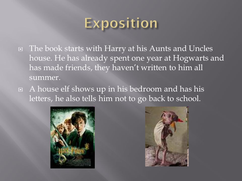  The book starts with Harry at his Aunts and Uncles house.