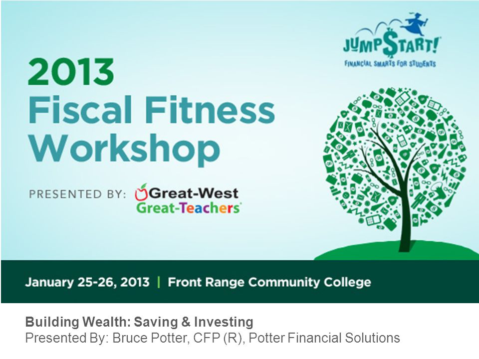 Building Wealth: Saving & Investing Presented By: Bruce Potter, CFP (R), Potter Financial Solutions