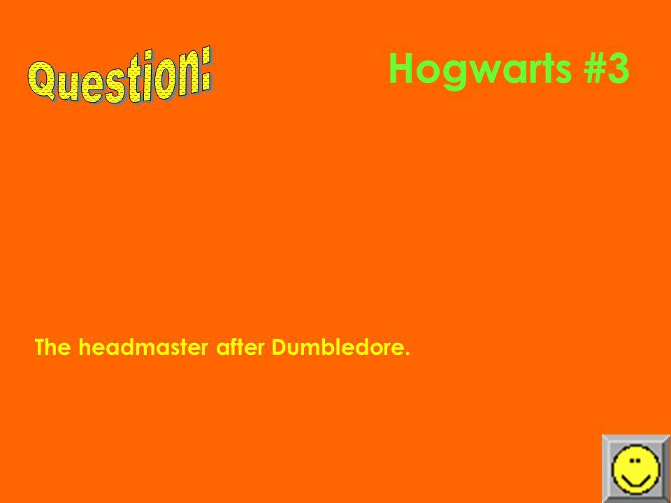 Hogwarts #2 The four house names