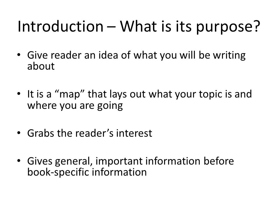 introduction for essay writing