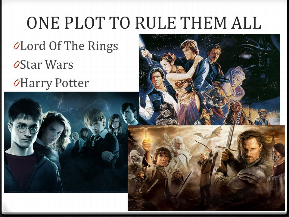 ONE PLOT TO RULE THEM ALL 0 Lord Of The Rings 0 Star Wars 0 Harry Potter