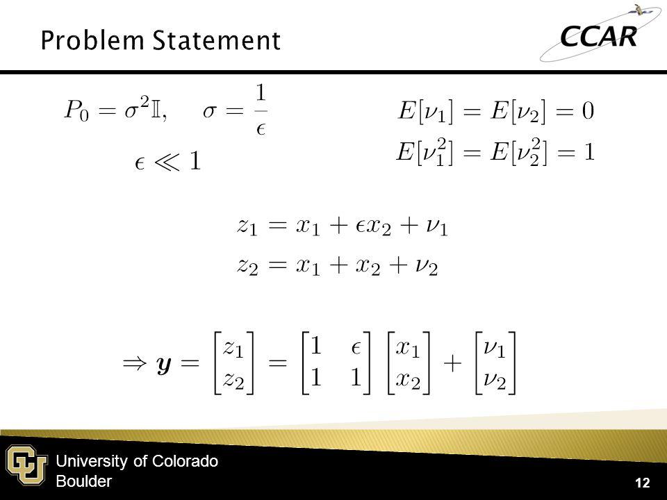 University of Colorado Boulder 12