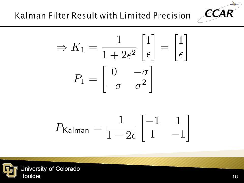 University of Colorado Boulder 16