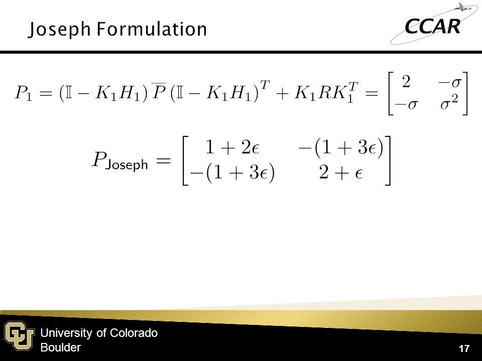 University of Colorado Boulder 17